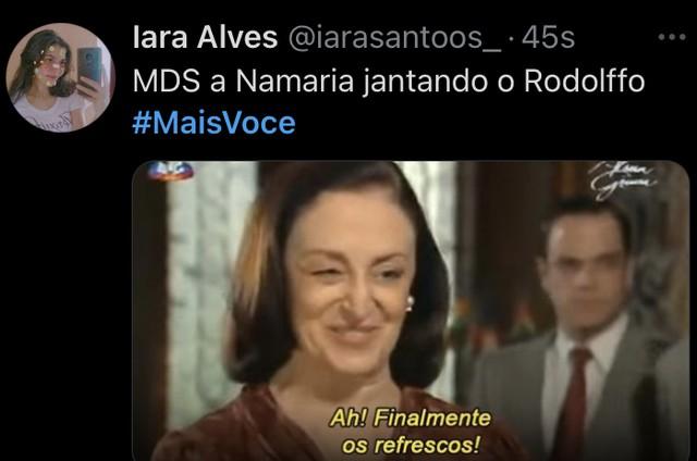 """Meme com entrevista de Rodolffo no """"Mais você"""" (Foto: Reprodução)"""