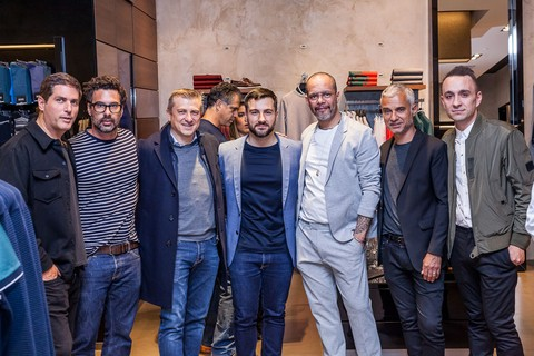 O time GQ na visita à Hugo Boss (foto: David Mazzo)