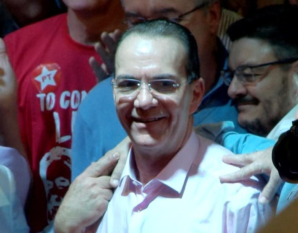 Décio Lima foi confirmado candidato ao PT ao governo de SC (Foto: José Carlos Rocha/ NSC TV)