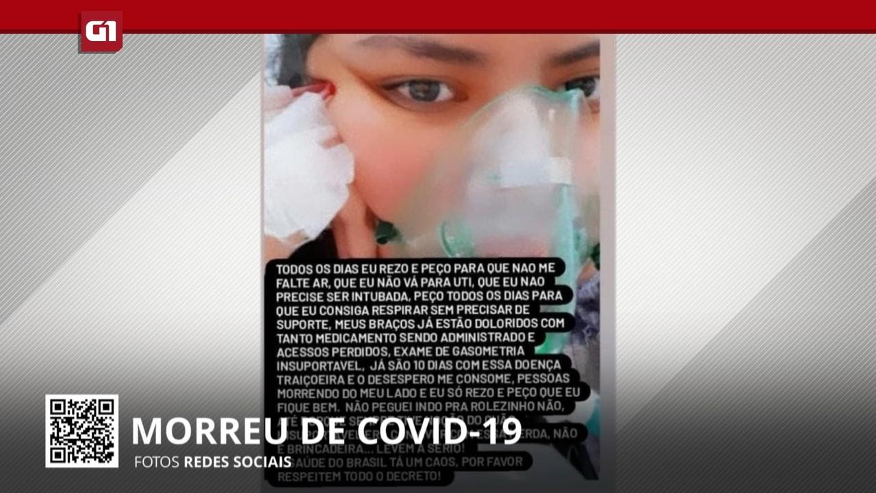 Estagiária de enfermagem que morreu por Covid postou alerta sobre doença na internet