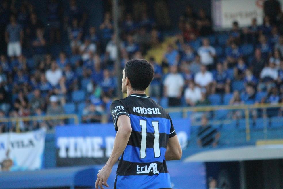 Pelo Tubarão, Magno Alves ainda não engrenou e marcou apenas um gol na Série D (Foto: Comunicação/CA Tubarão)