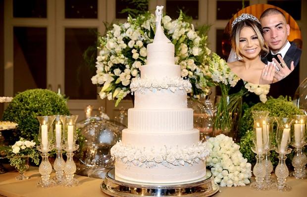 Bolo de casamento de Mc Guimê e Lexa (Foto: Instagram/ Reprodução)