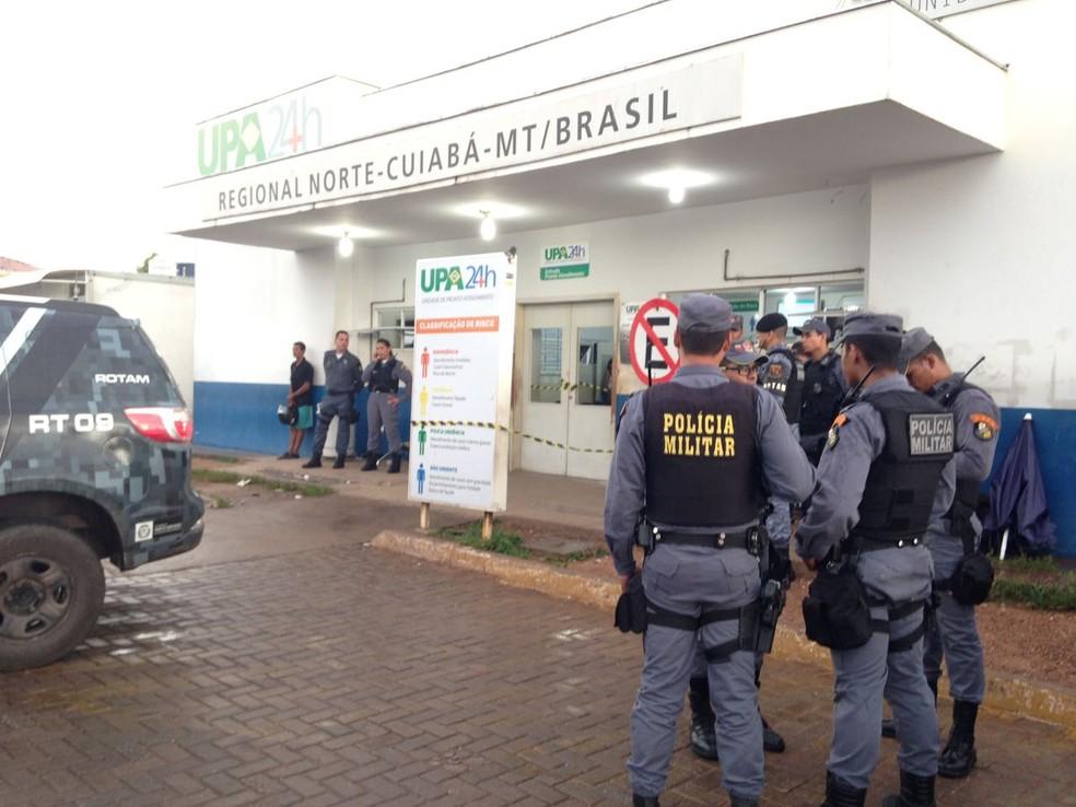 Confronto ocorreu durante tentativa de resgate de preso em unidade de saúde (Foto: Leandro Agostini/Centro América FM)