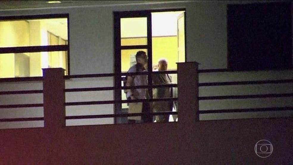 Ex-presidente Michel Temer, na Superintendência da PF no Rio de Janeiro, onde ficou preso — Foto: Reprodução/JN
