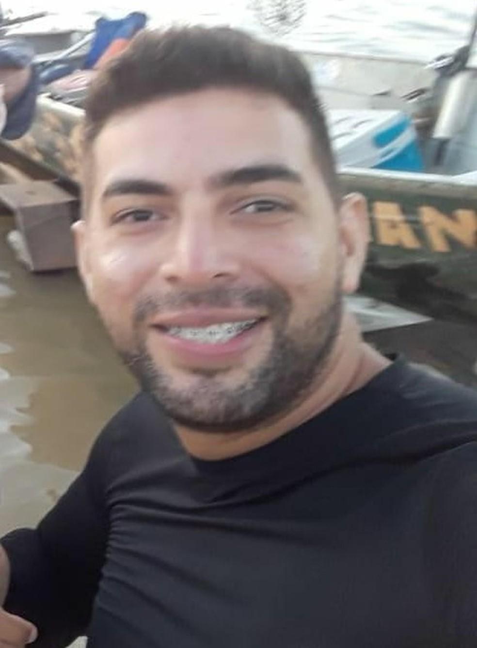 Buscas para encontrar Marcos Paulo de Lima Marques foram suspensas pela Defesa Civil.  — Foto: Divulgação/Sistema penitenciário
