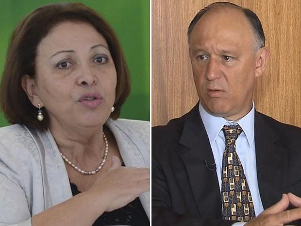 Ideli Salvatti deverá ser substituída por Pepe Vargas na Secretaria de Direitos Humanos (Foto: Antônio Cruz / ABr e Reprodução / GloboNews)
