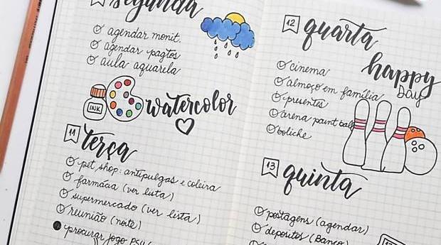 Com o passar do tempo, a agenda ganhou mais detalhes e cores (Foto: Divulgação)
