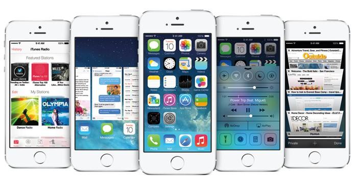 iPhone 5S possui iOS 7 de fábrica, mas que já pode ser atualizada para versão 8.3 (Foto: Divulgação/Apple)