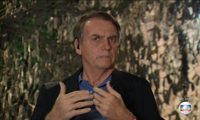 Bolsonaro em entrevista ao Jornal Nacional