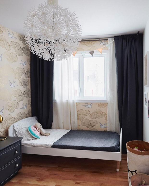 Décor do dia: quarto de criança em tons neutros e cinza (Foto: Sylvie Li)