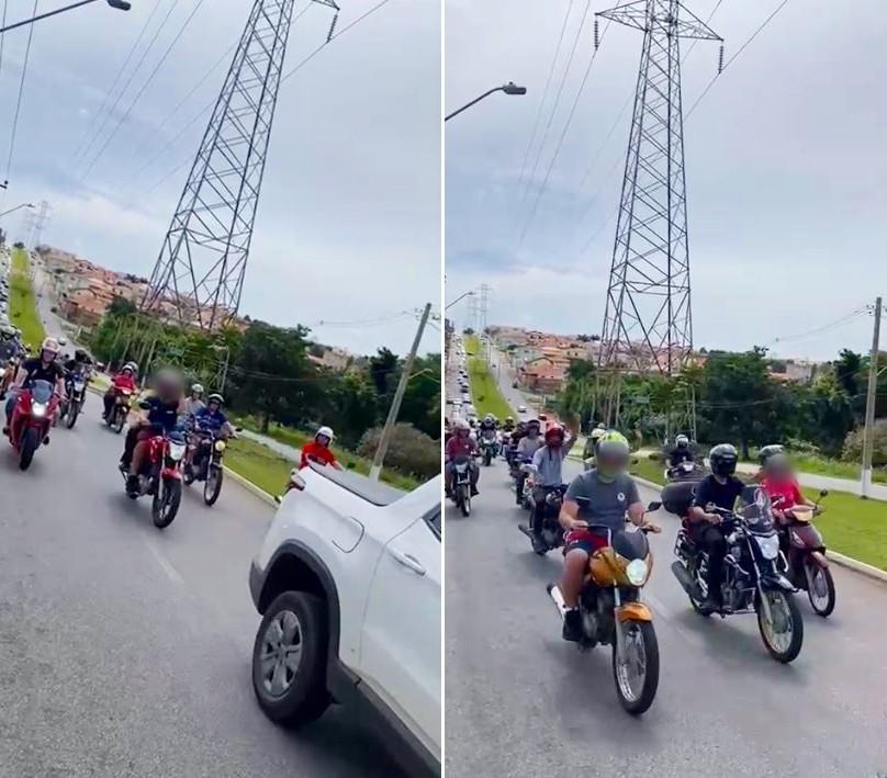 Comerciantes fazem carreata em protesto contra fase vermelha em Itapeva