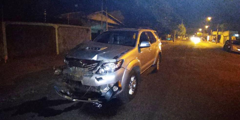 Mulher de ex-deputado federal bateu caminhonete em moto, feriu casal e matou criança de 3 anos em Rondonópolis — Foto: Divulgação