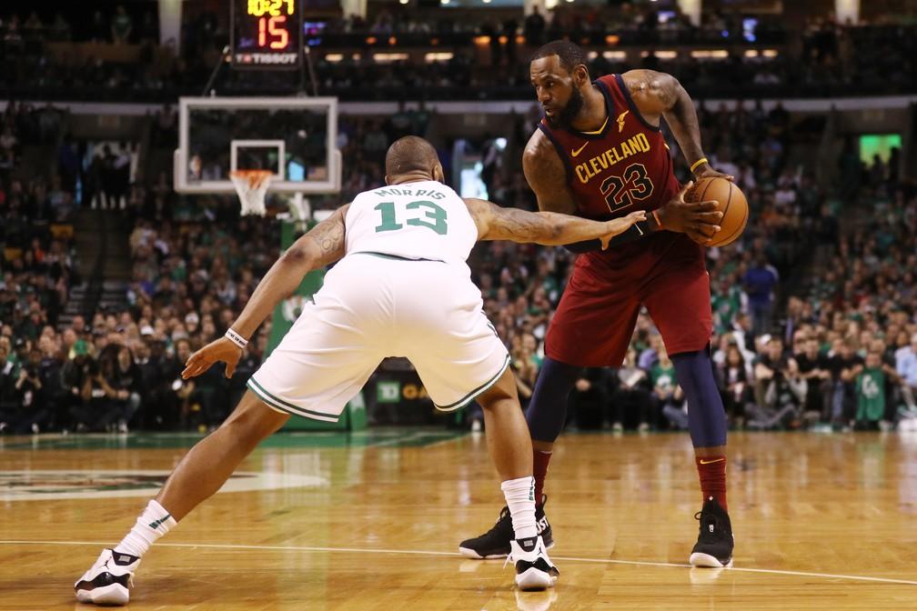 LeBron James não conseguiu ser tão decisivo como em outras oportunidades (Foto: Maddie Meyer/Getty Images)