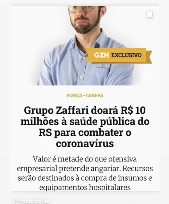 Grupo Zaffari doa R$ 10 milhões à saúde pública no RS
