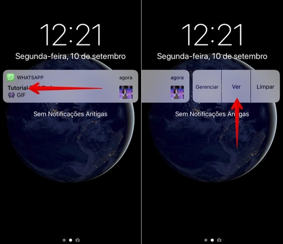 Visualizando GIF ou foto recebida no WhatsApp sem o 3D Touch (Foto: Reprodução/Helito Bijora)