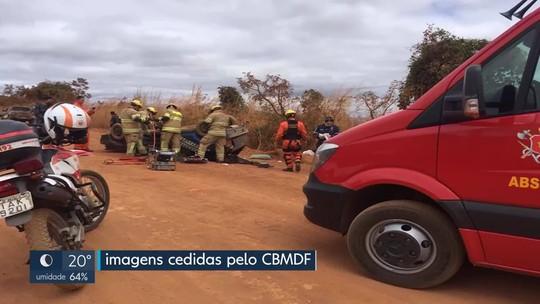 Homem morre em acidente de carro na DF-250, em Planaltina