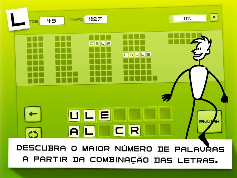 O Letroca é um jogo interativo para encontrar palavras a partir de letras embaralhadas (Foto: Divulgação/Letroca)