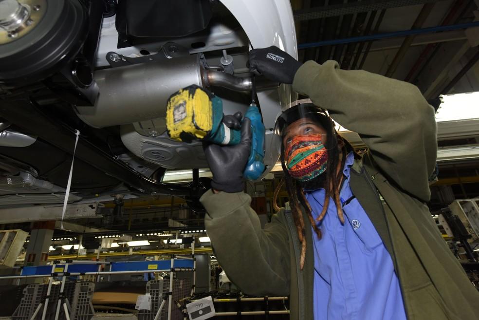 Com medidas contra coronavírus, VW retoma produção na fábrica de Taubaté após dois meses — Foto: Volkswagen/Divulgação