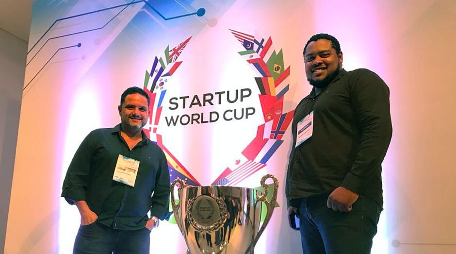 Fundadores da Biosolvit no Startup World Cup Global Pitch Competition & Conference (Foto: Divulgação)