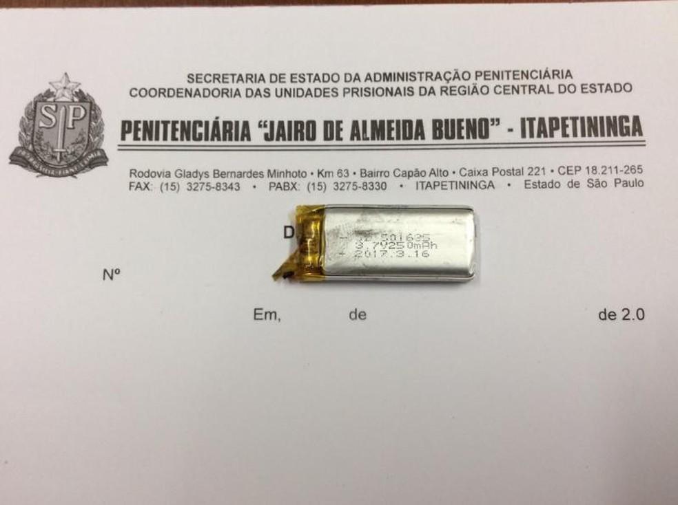 Preso confessou que foi pago para levar eletrônicos em penitenciária (Foto: Divulgação/SAP)