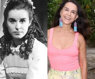 Na fase adulta, o papel foi de Lucélia Santos. O último trabalho dela na Globo foi no 'Dança dos famosos', em 2014. No ano passado, ela esteve em cartaz com o monólogo 'Teresinha' | Acervo Globo / Marcos Ramos