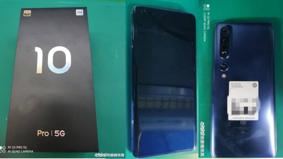 Imagens vazadas do Xiaomi Mi 10 Pro confirmam câmera quádrupla  — Foto: Reprodução/Fone Arena