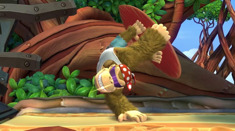 Direto do Wii U, Donkey Kong Country Tropical Freeze ganha uma nova versão no Switch agora com Funky Kong (Foto: Reprodução/YouTube)