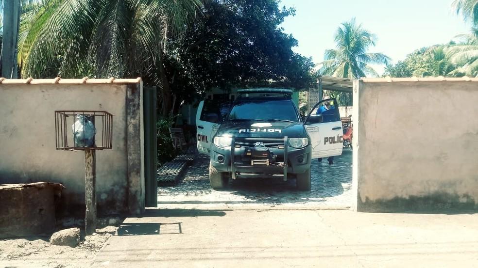 Casa onde funcionava boca de fumo em Costa Marques — Foto: Polícia Civil/Divulgação