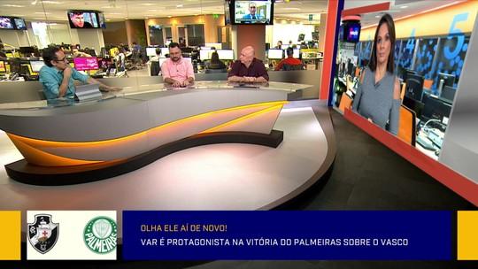 """""""Jogo com uma arbitragem atrapalhada"""". Redação analisou vitória do Palmeiras sobre o Vasco"""