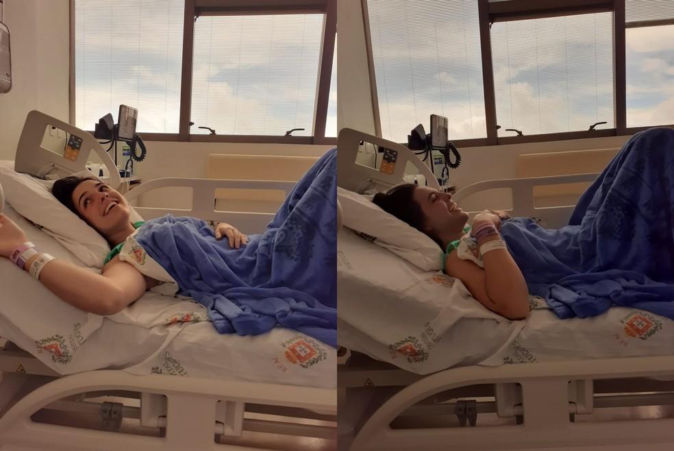 Jovem que viajou 2 mil km para doar medula óssea disse que procedimento valeu a pena — Foto: Giovanna Venarusso Crosara/Arquivo pessoal