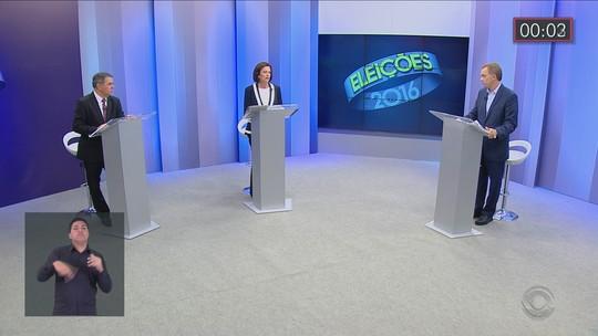 Angela Amin e Gean Loureiro participam de debate na RBS TV