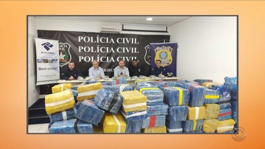 Cinco toneladas de maconha são apreendidas na BR-116, na Serra de SC