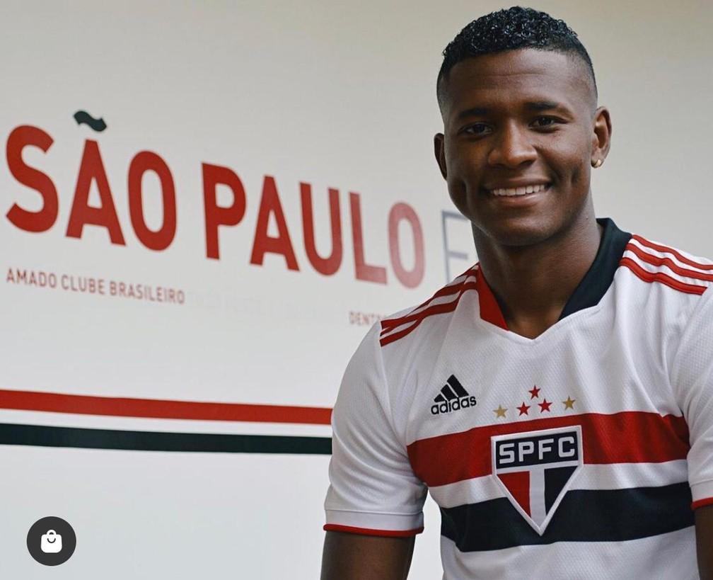 Orejuela foi contratado pelo São Paulo — Foto: Divulgação