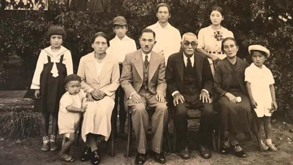 A família Mizobe cultivava alimentos em Bastos, no interior de SP — Foto: Arquivo pessoal