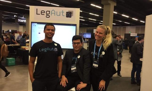 Edivaldo Delgado, André Yukio e Maria Eduarda Herriot, co-fundadores da LegAut