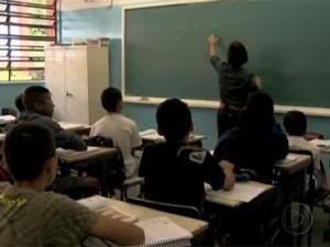 Alunos em sala de aula (Foto: TV Globo/Reprodução)