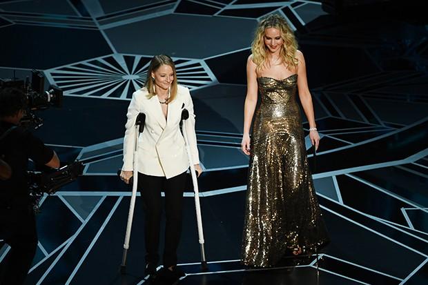 Jodie Foster e Jennifer Lawrence (Foto: Getty Images)