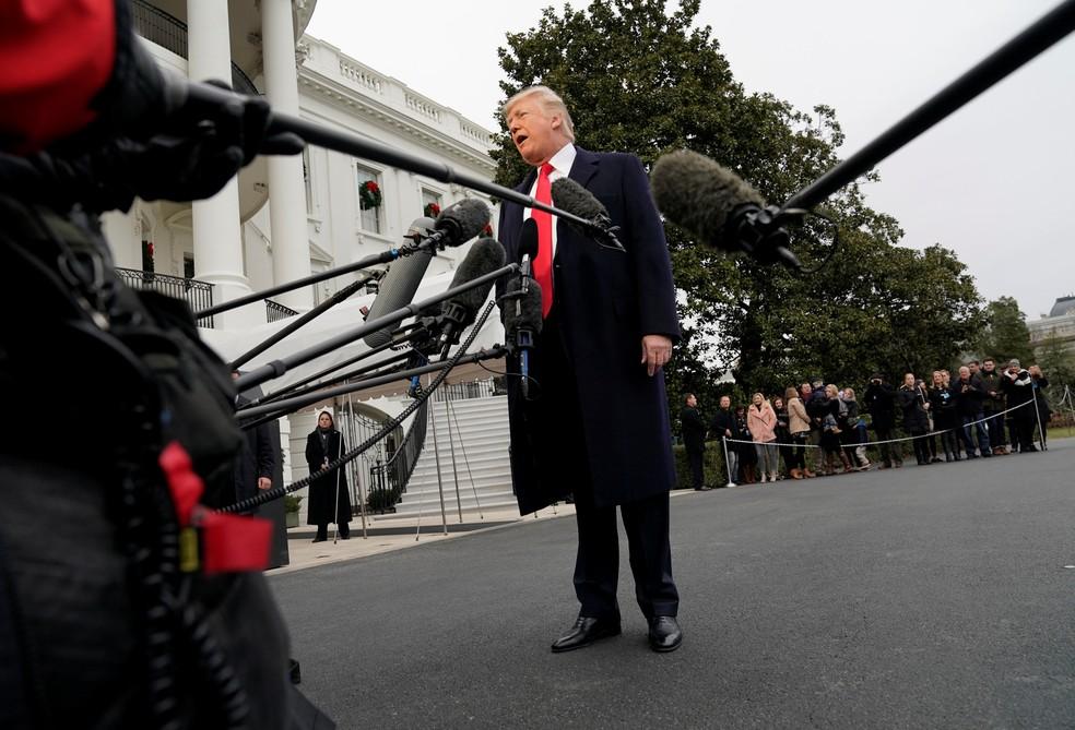 Trump disse que pediu ajuda a Moscou para convencer Coreia do Norte a abandonar desenvolvimento de mísseis e armas nucleares (Foto: Yuri Gripas/Reuters)