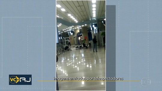 Homem 'surta' e promove quebra-quebra no aeroporto do Galeão