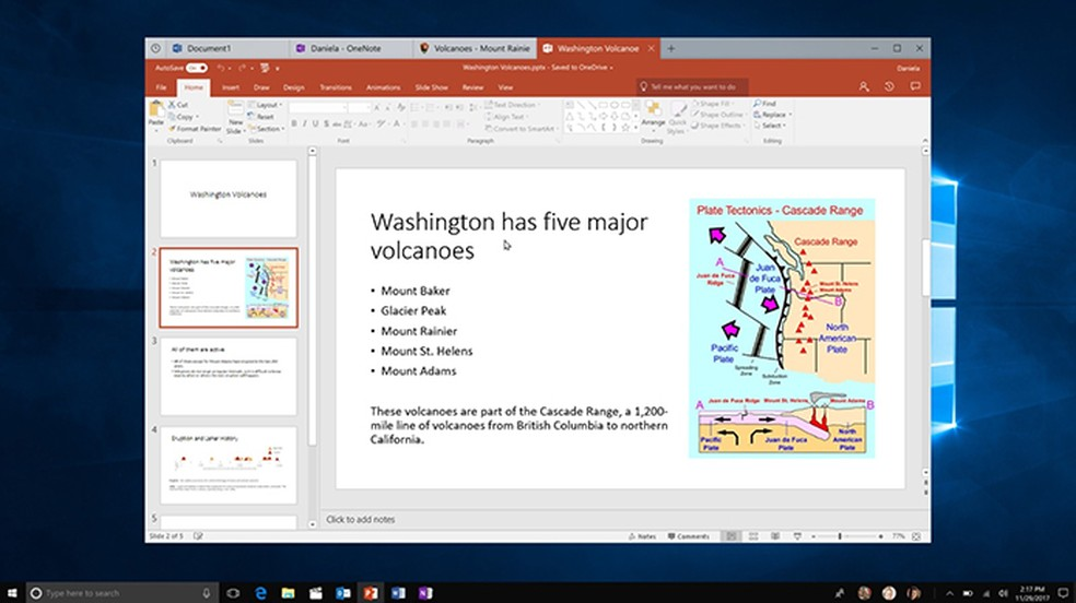 Windows 10 permitirá agrupar apps em uma única janela — Foto: Divulgação/Microsoft