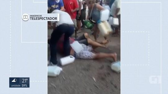 Motoristas trocam socos em briga por gasolina em posto do Gama, no DF; veja vídeo