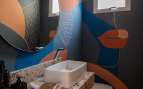 Pintura trouxe vida às paredes do ambiente