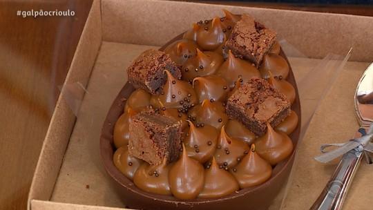 Ovo de Brownie Para Comer de Colher