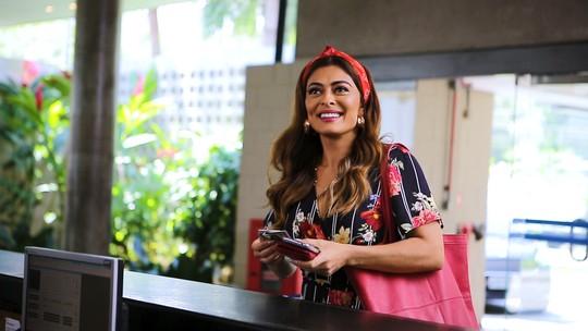 Maria da Paz visita Estúdios Globo e web comemora; reveja a cena