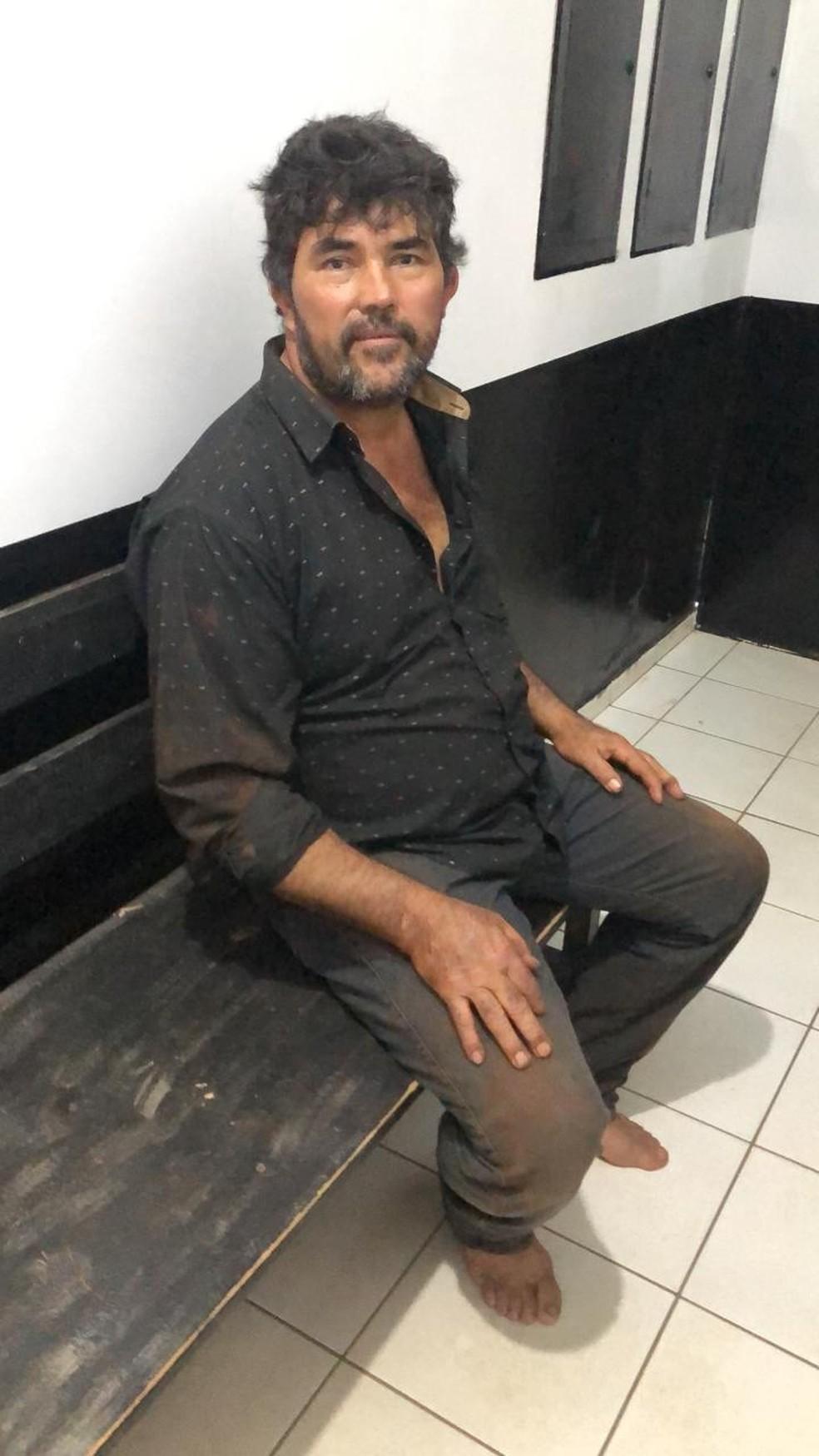 Capataz foragido se entregou à polícia de MS nessa quinta-feira (12) — Foto: Sejusp/Divulgação