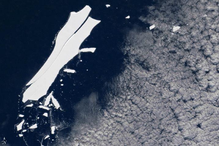 Iceberg B-15 está perto do adeus.  (Foto: NASA)