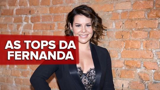 'SóTocaTop': Fernanda Souza lista seu ranking pessoal, de 'Deus cuida de mim' a 'Só quer vrau'