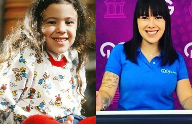Aos 6 anos, Carolina Pavanelli foi Maria Carolina. Sem a mãe, sofria num orfanato, até que conheceu Tio Zé (Elias Gleizer), de quem ficou amiga. Atualmente, ela trabalha na área de educação (Foto: TV Globo / Reprodução)