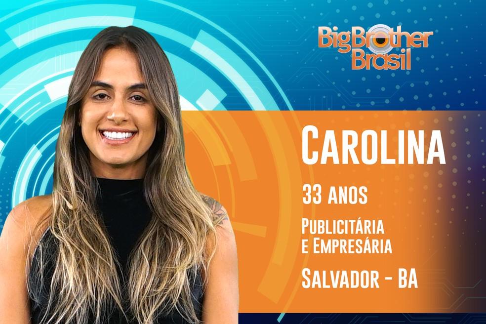 Carolina é publicitária e empresária — Foto: TV Globo