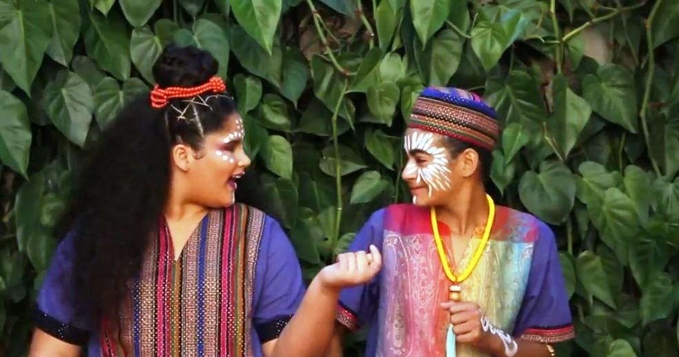 Coral infantojuvenil de São Carlos (SP) cantou e gravou músicas em idiomas africanos — Foto: Paulo Chiari/EPTV